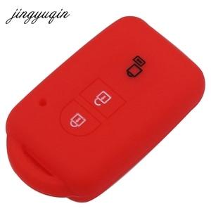 Image 4 - Jingyuqin chave do carro silicone fob caso capa pele proteger para nissan duke micra qashqai juke x trail navara remoto keyless