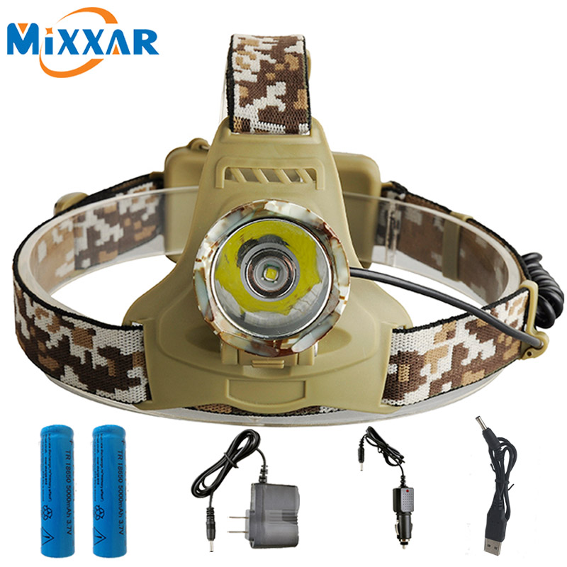 NZK30 5600LM XM T6 Led Headlamp Headlight Camouflage led Head Lamp Rechargeable Lantern Lamp Camping Hiking