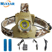 NZK30 5600LM XM-T6 Led Headlamp Headlight Camouflage led Head Lamp Rechargeable Lantern Lamp Camping Hiking Fishing Light