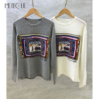 Модные узор 100% кашемировые свитера Для женщин 2018 Предварительно осень мода Cachemire с длинным рукавом Для женщин пуловер 2018 осень зима