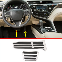 цена на Car Brake Fuel Gas Pedal Pedals Accelerator Foot Rest Pedal AT For Toyota Camry 2019 Avalon 2019 For Lexus ES 2019 LS 2018 2019