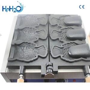 Image 5 - מסחרי 3 pcs חשמלי פתוח פה גלידת מכונת taiyaki דגי ופל צורת קונוס יצרנית מכונה