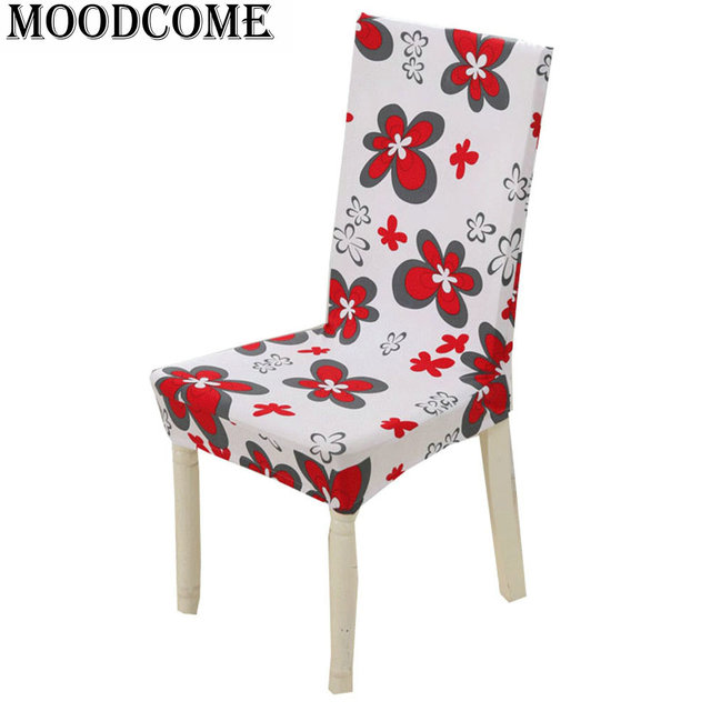 Housse Chaise Spandex Couvre De Extensible Flower Printing Stretch Chair Covers Office