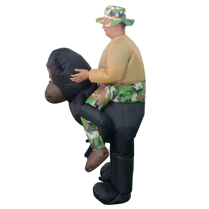 Ride on Jocko Animal Novelty Gags Toys Inflatable Chimpanzee Cosplay Props Toy Ride on Pants Toys Adult Child Halloween Gift