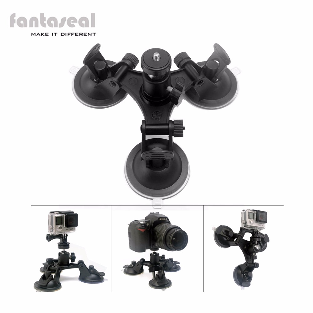 Portable Outdoor Suction Cup Tripod Holder Flexible Arm for Camera Dash-Cam