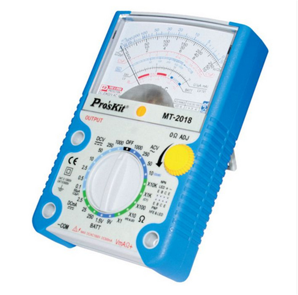ProsKit MT 2018 Protective Function Analog Multimeter Safety Standard Professional Ohm Test Meter Tester Analog Free Shipping|Multimeters| |  - title=