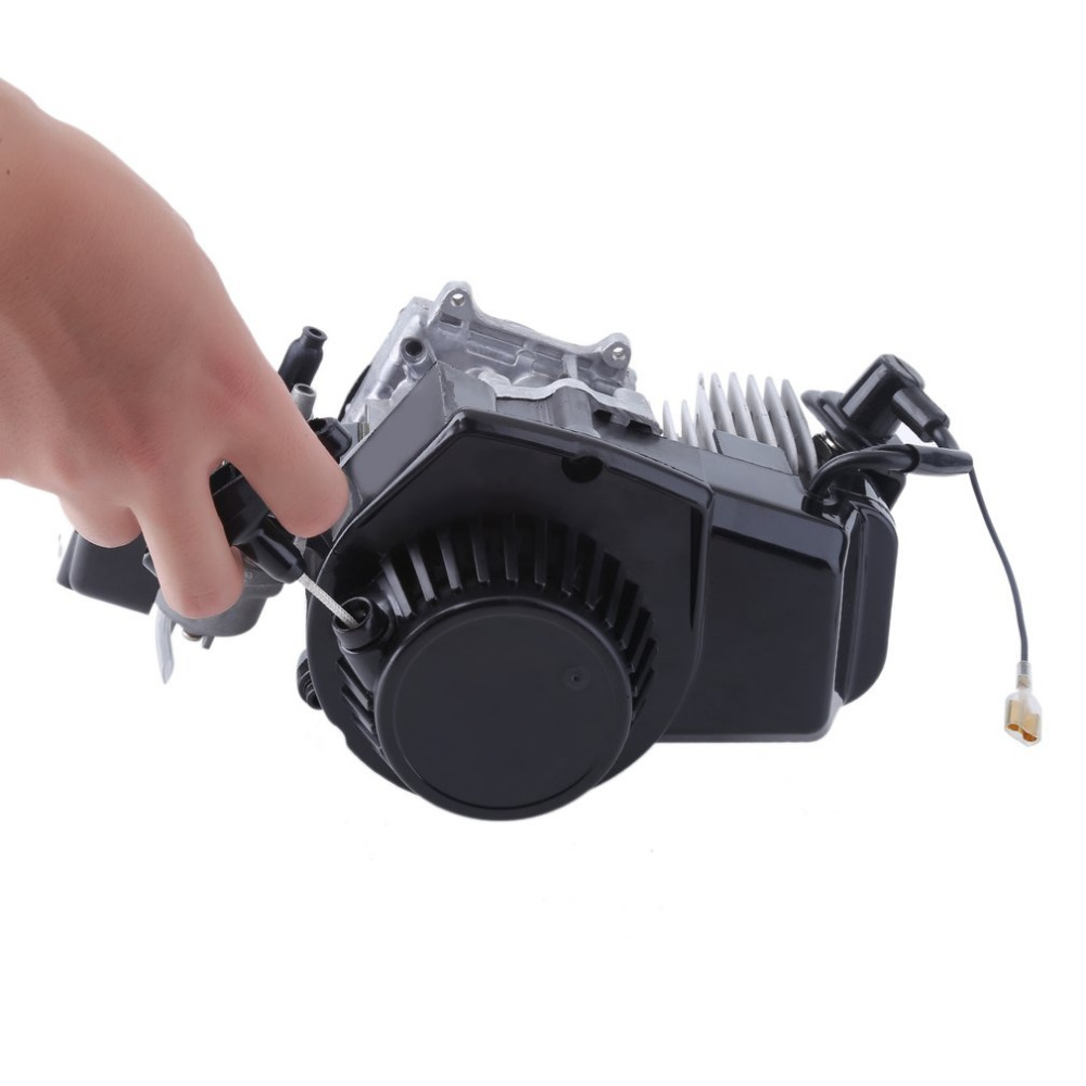 Electric Bicycle Motor 50cc 2-Stroke Engine Motor Start Starter Pockets Mini Bike Scooter Two Stroke Bicycle Engineb USA ship ship from usa 2 stroke 80cc motor blike bicycle engine kits gas bike kit c80 with suitable price