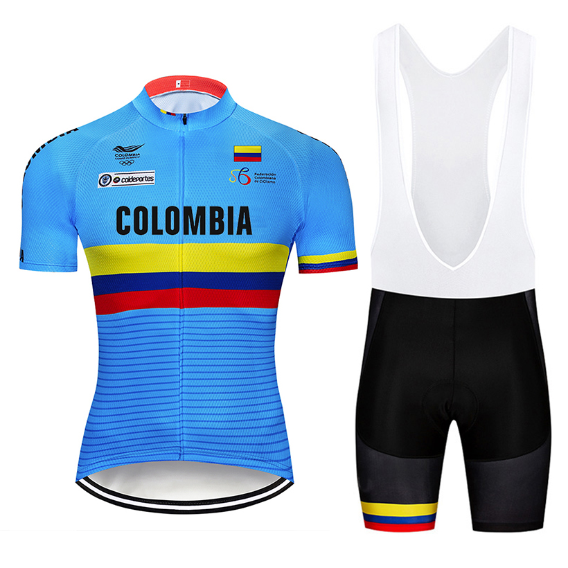 Image 2 - Crossrider 2019 Blue Colombia Cycling Jerseys Set MTB Shirt Bike Clothing Breathable Bicycle Clothes Men's Short Maillot Culotte-in Cycling Sets from Sports & Entertainment
