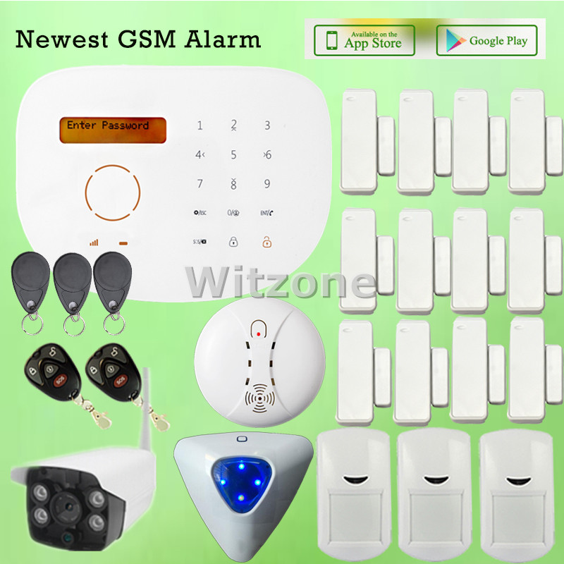 Two way communication RFID GSM Home Burglar Alarm System with Compatible WIFI IP Camera CCTV Surveillance marital communication