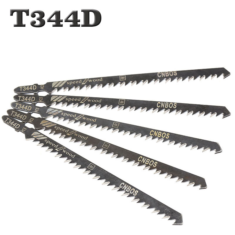 5PCS High Quality 5pcs Hcs HSS Ground Teeth Straight Cutting T-Shank Jig Saw Blade For Wood