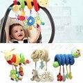 Nueva espiral de actividades cochecito de viaje del asiento de coche torno colgante toys sonajeros de bebé de juguete