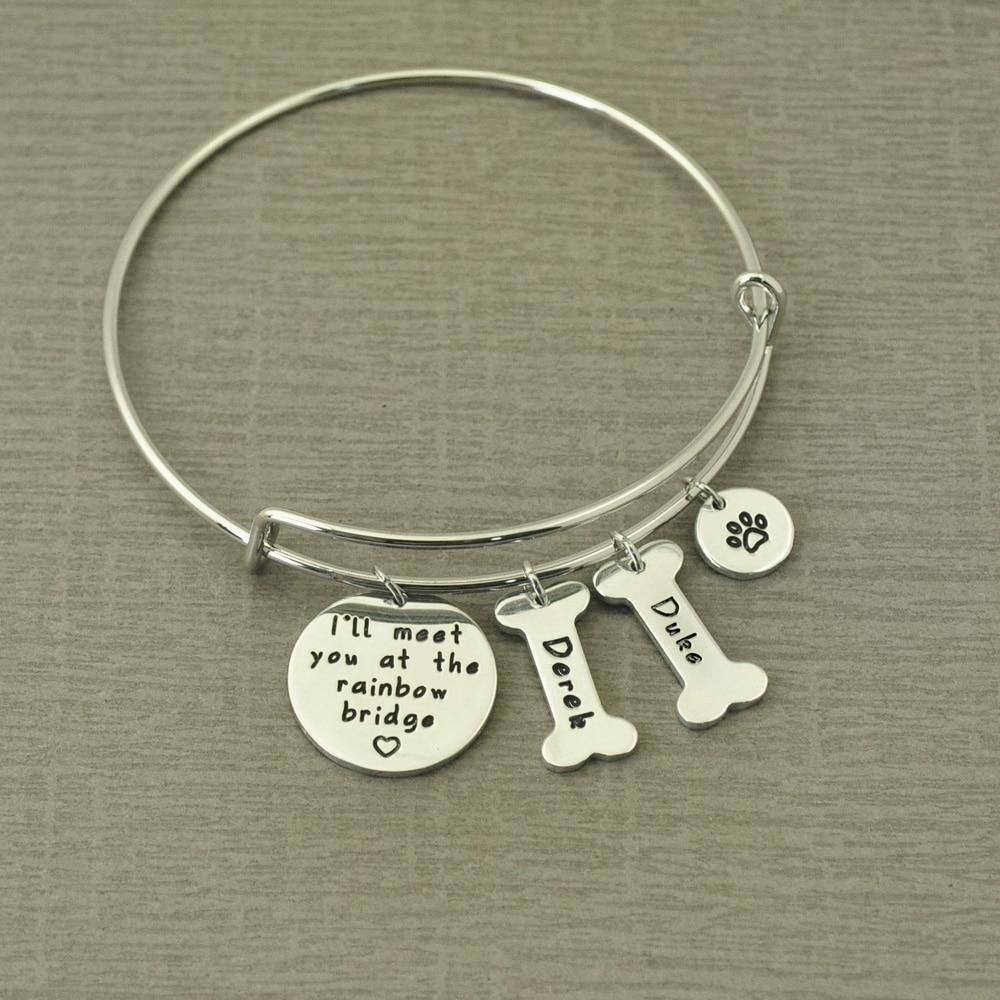 Personalized Dog Memorial Bracelet Pet