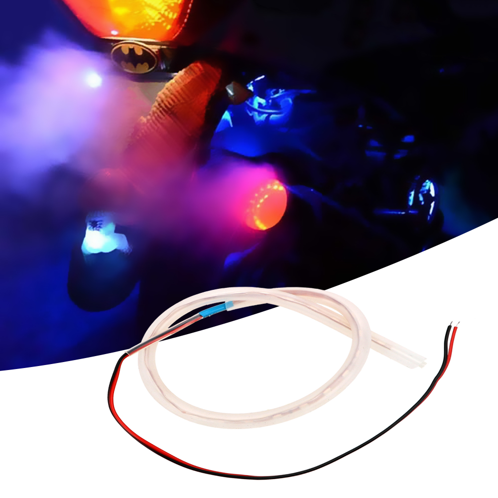 LEEPEE1 Set Moto Decorative Lamps Motorcycle Light Motorbike Exhaust Pipe Lamp Scooter Refit Torching Thermostability Lights LED