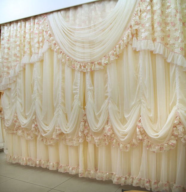 New Fashion High Quality Luxury Lace Curtains The Finished