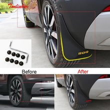 Tonlinker Cover sticker For Skoda KAROQ 2018 Car Styling 4 PCS ABS Plastic Exterior Parts specialty Mudguards with logo