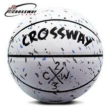 Лидер продаж, новинка, брендовые дешевые баскетбольные мячи CROSSWAY L702, Официальный баскетбольный мяч из искусственной кожи, Размер 7,, с сетчатой сумкой+ игла