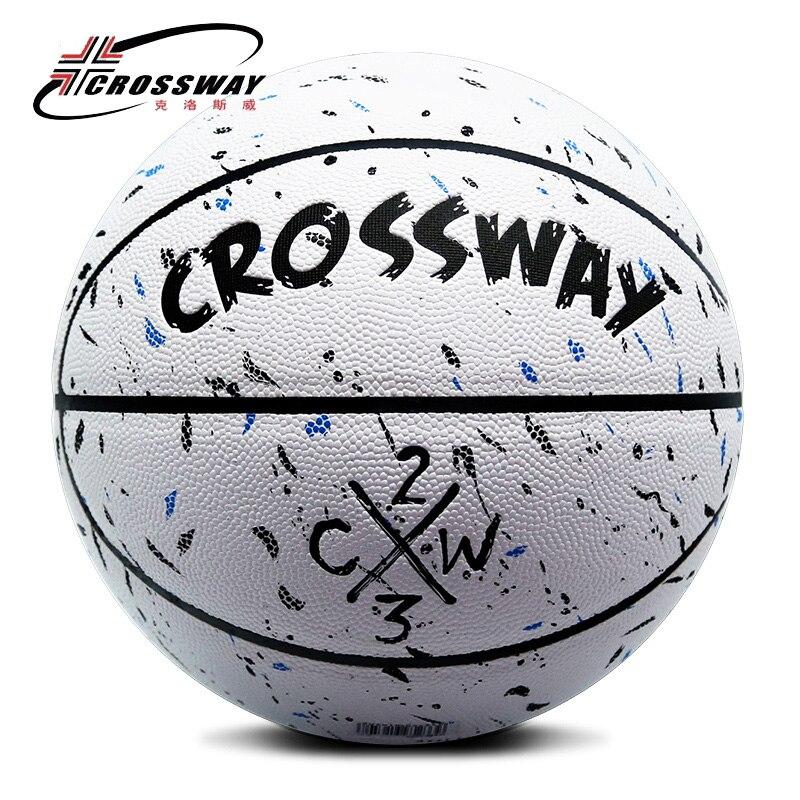Лидер продаж, новый бренд, дешево, CROSSWAY L702, баскетбольный мяч, PU материал, Официальный Размер 7, баскетбольный мяч, бесплатная доставка, с сетчатой сумкой + иглой-0