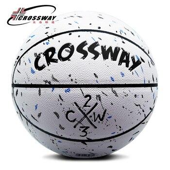 Лидер продаж, новый бренд, дешево, CROSSWAY L702, баскетбольный мяч, PU материал, Официальный Размер 7, баскетбольный мяч, бесплатная доставка, с сетчатой сумкой + иглой