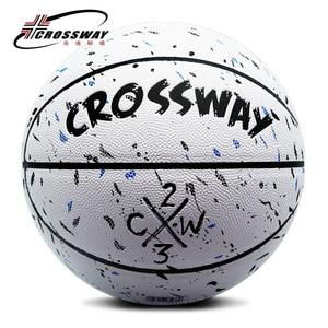 Image 1 - ホット販売新ブランド格安crossway L702バスケットボールボールpuマテリア公式Size7バスケットボール無料でネットバッグ + ニードル
