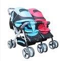 Bora choque toda a dobrar dupla carrinho de bebê buggiest carrinho de criança gêmeo