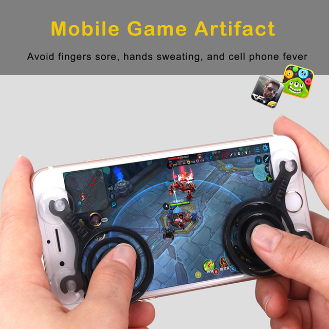 2pcs/Lot Mini Mobile Joysticks Touch Screen Joystick For Smartphone Tablet Arcade Games Sucker Controllers for Android IOS phone