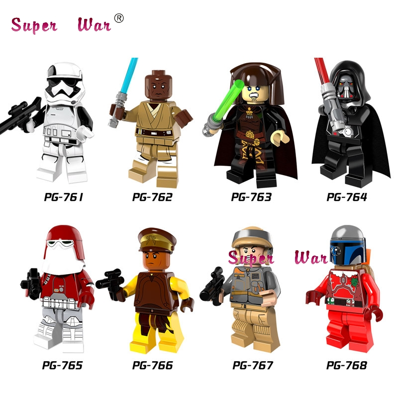 1PCS  Darth Vader  Windu Unduli  Red SnowCaptain Panaka Building Blocks Toys For Children