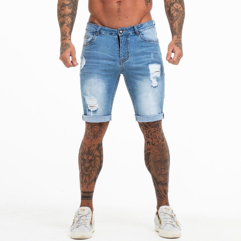 Mens   Shorts   Fitness Denim   Shorts   Black High Waist Ripped Summer Jeans   Shorts   For Men Brand Plus Size Casual Streetwear dk03