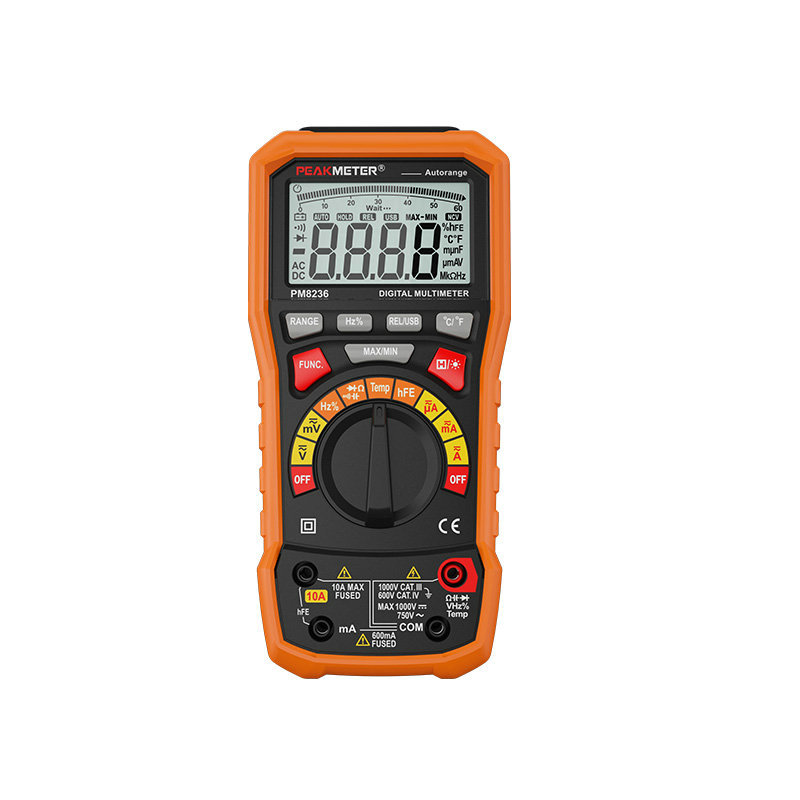 цены Digital Display Multimeter Hyelec Ms8236 Auto Range Power Off with Temperature Test And Data Logger Termometro Data Logger