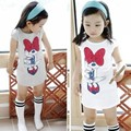 Girl Summer T Shirts Children T Shirts Girls Baby  Cotton  High quality O-neck White And Gray Color Big Discount Very