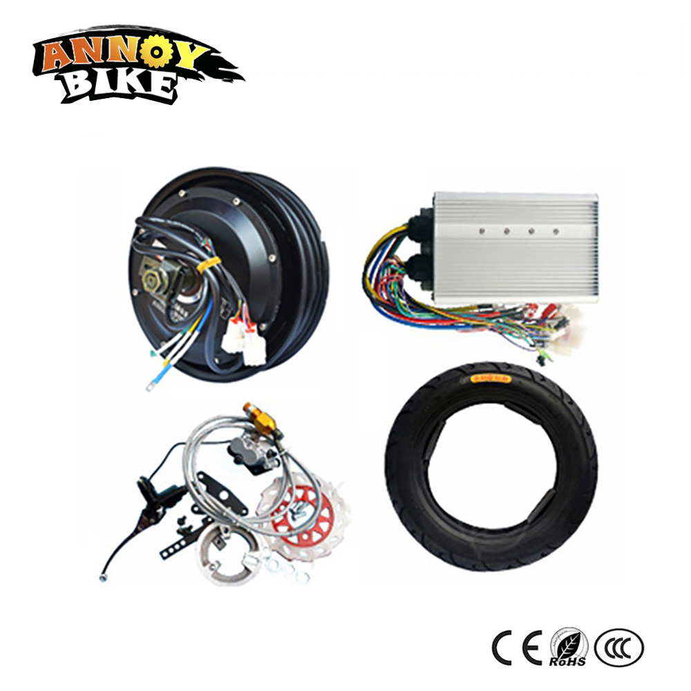 <font><b>60v</b></font> 72v 84V 96v Ebike Hub <font><b>Motor</b></font> Kit <font><b>2000w</b></font> Bicicleta Electrica With Hydraulic Brake For Electric Motorcycle DIY Car Emotor Bike image