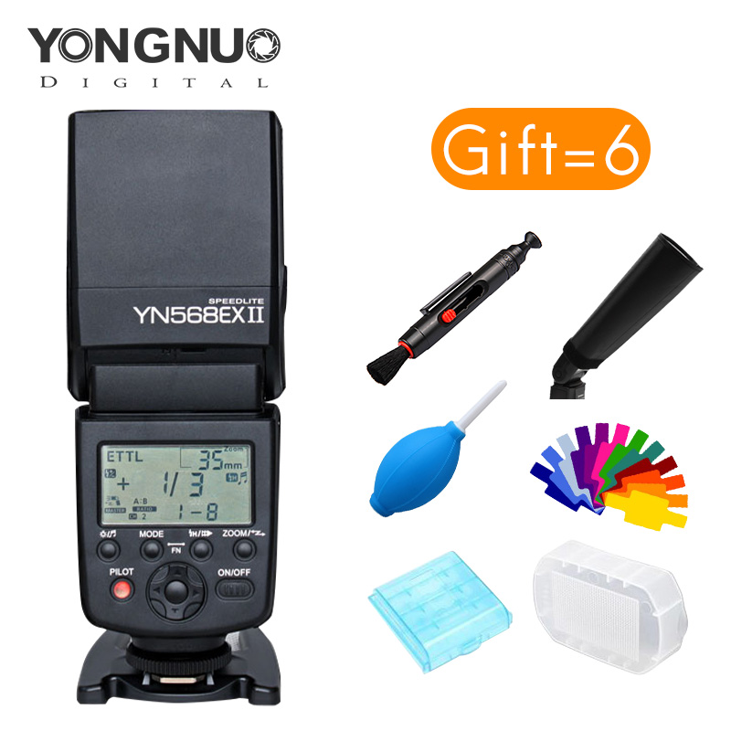 Yongnuo YN-568EX II Wireless TTL HSS Flash Speedlite for Canon 5D3 5D2 6D 7D high speed 1/8000 ultra powerful GN master control yongnuo 3x yn 600ex rt ii 2 4g wireless hss 1 8000s master flash speedlite yn e3 rt flash trigger for canon eos camera 5d 6d