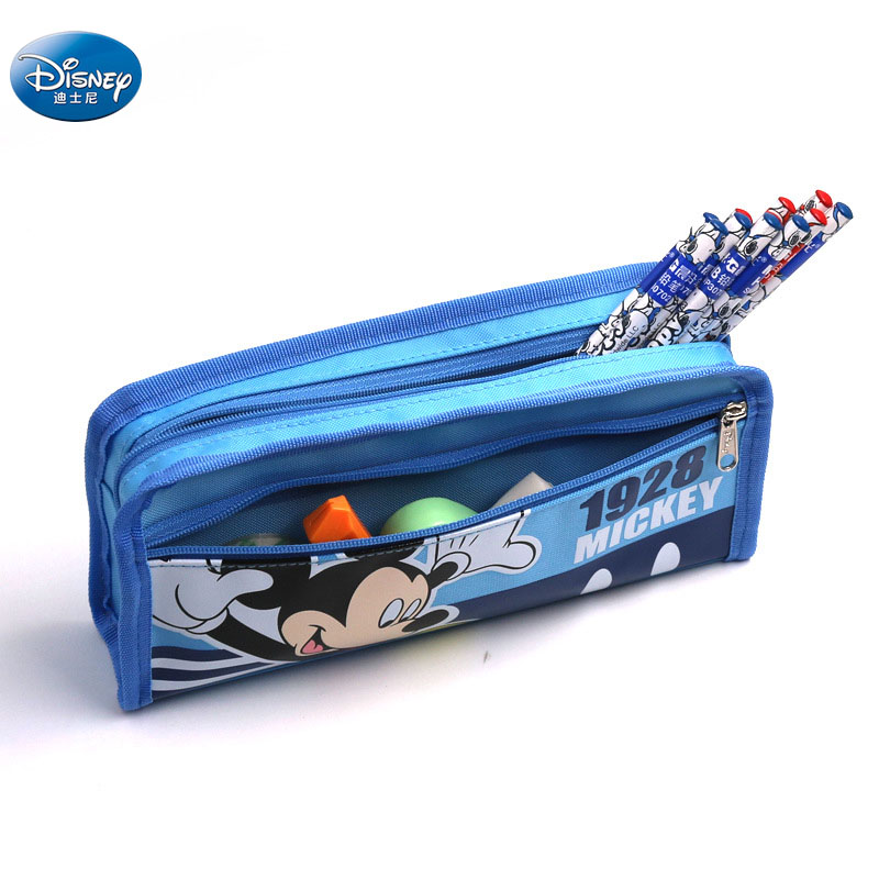 Cartoon Simple Classic Minnie Mickey Mouse Pencil Cases  Disney Large Capacity Stationery Bag Writing Supplies For Kids  Reward
