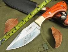 OEM Browning DUKE. DUDLEY 5cr15mov Blade Wood Handle Fixed Blade Knife Camping survival Hunting Knives Edc Tool Drop shipping