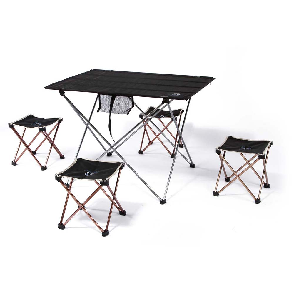 iKayaa 7075 Aluminium Alloy Waterproof Outdoor Tables Portable Outdoor Tables Ultra-light Foldable Table Desk for Camping Picnic multipurpose foldable outdoor attached table beach tables advertising exhibition table picnic desk