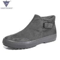 WEST SCARP Fashion Men Sneakers Spring Autumn Men Casual Shoes Male Canvas Shoes High Top Hombre