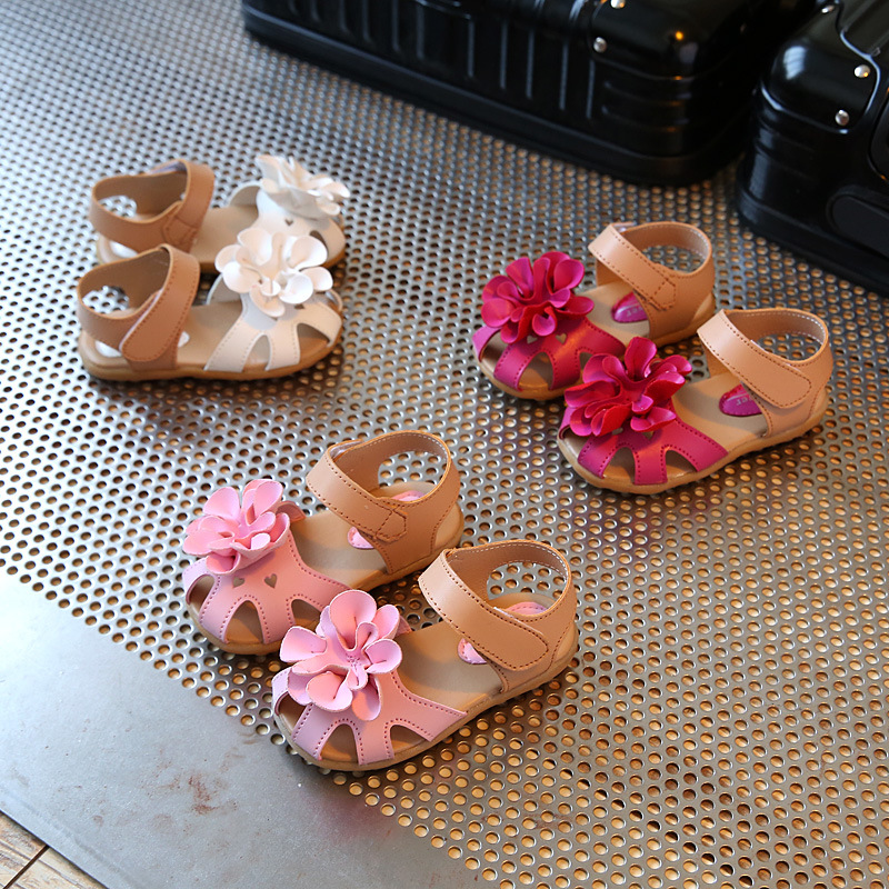 Girls Summer Princess Flower Sandals 4