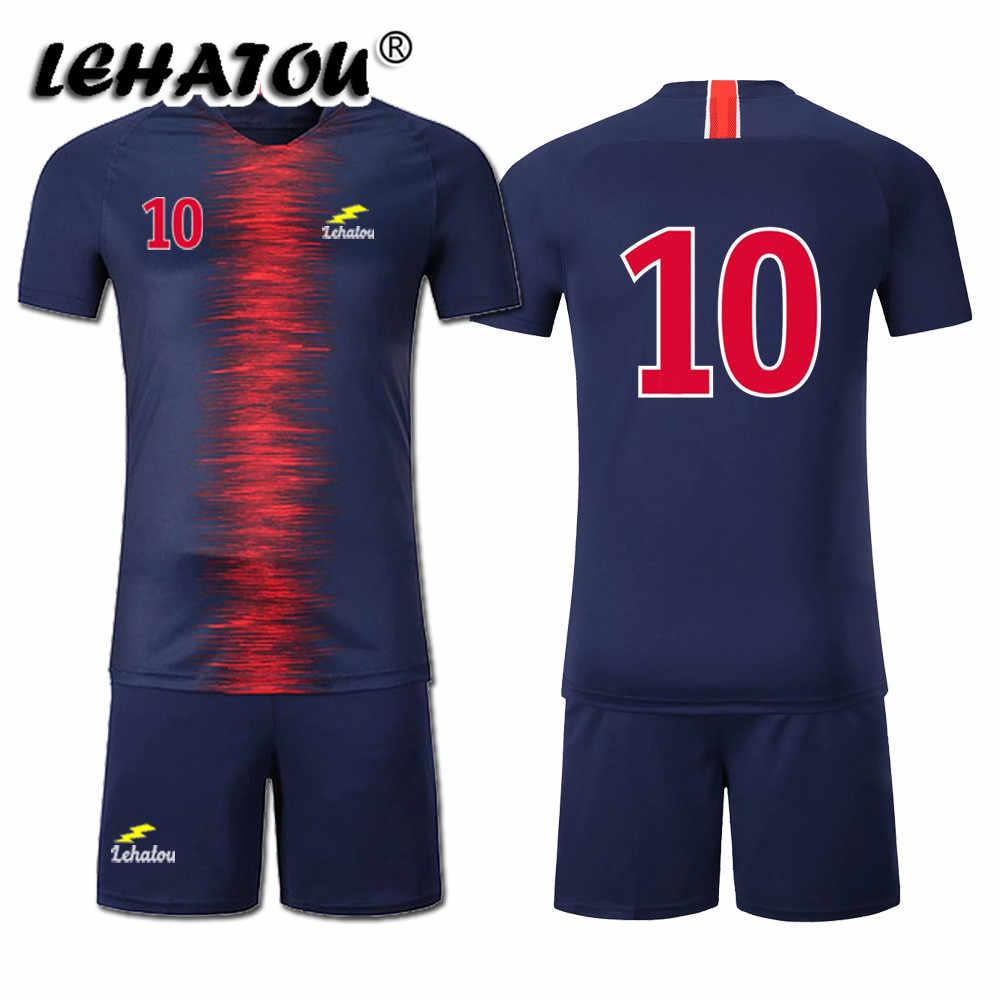 382c855c2fc ... Soccer Jersey Paris Men Football Sets Adults Soccer Shirt Top Quality  Paris Neymar Jr Cavani Mbappe ...