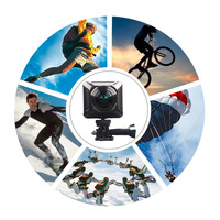 Переносной H700 360 градусов панорамный Камера 0,82 ЖК дисплей действие Камера 1920*1080 30fps построен в высокой Ёмкость 1200 мАч литиевых Батарея