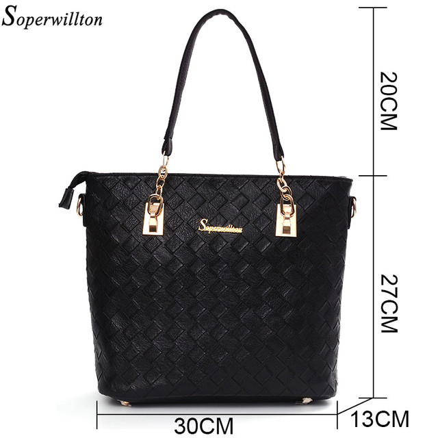 Soperwillton Brand Women Composite Bag Knitting Shoulder Bag 6 Pieces In Total New 2017 Crossbody Messenger Bag For Female #1134