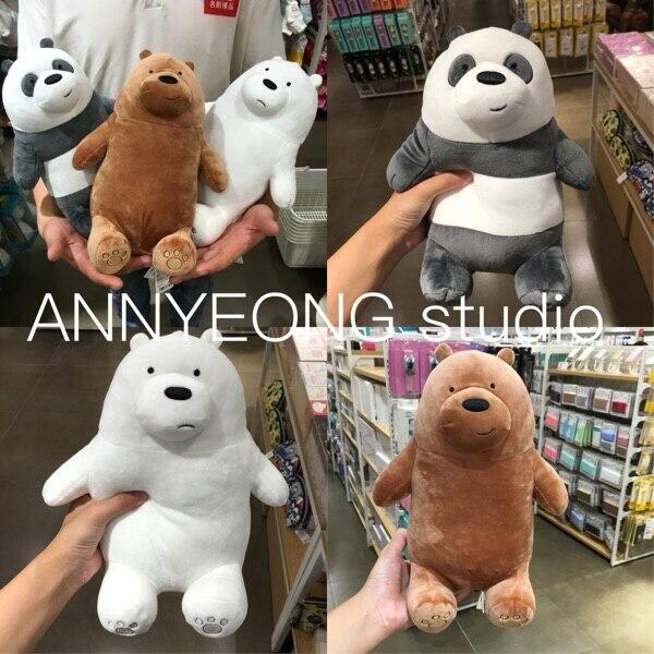 Arrival3 Styles Bare Bears Grizzly Peanda Ice Bear Stuffed Animals Cute Soft Plush Toys 10