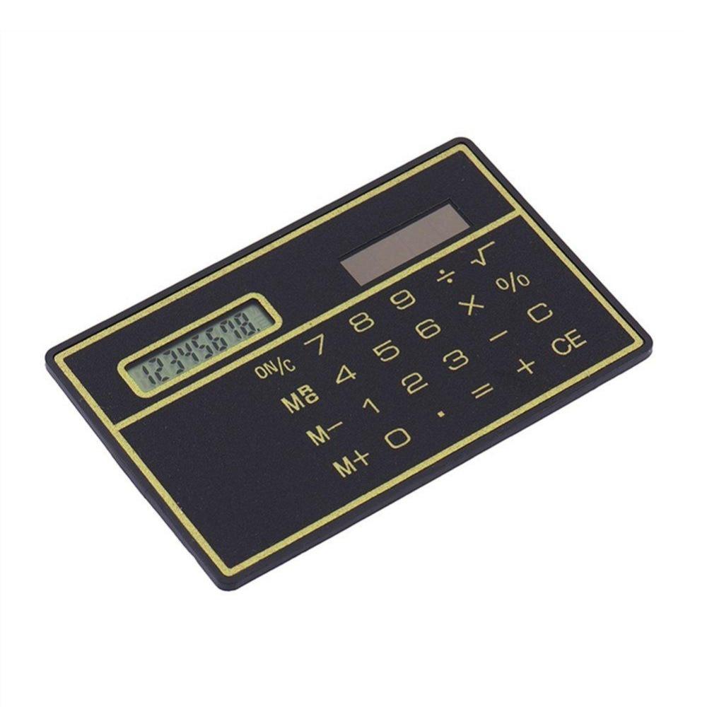 Ultra Slim Portable Solar Powered Digit Calculator Credit Card Cheap Durable Solar Power Pocket Calculator Small Travel Compact