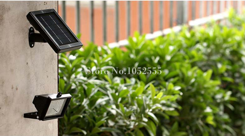 2 шт. открытый 30 светодиодов Солнечный Прожектор садовый газон Ландшафтный напольный фонарь прожектор дворовая лампа водонепроницаемый Бе... - 5