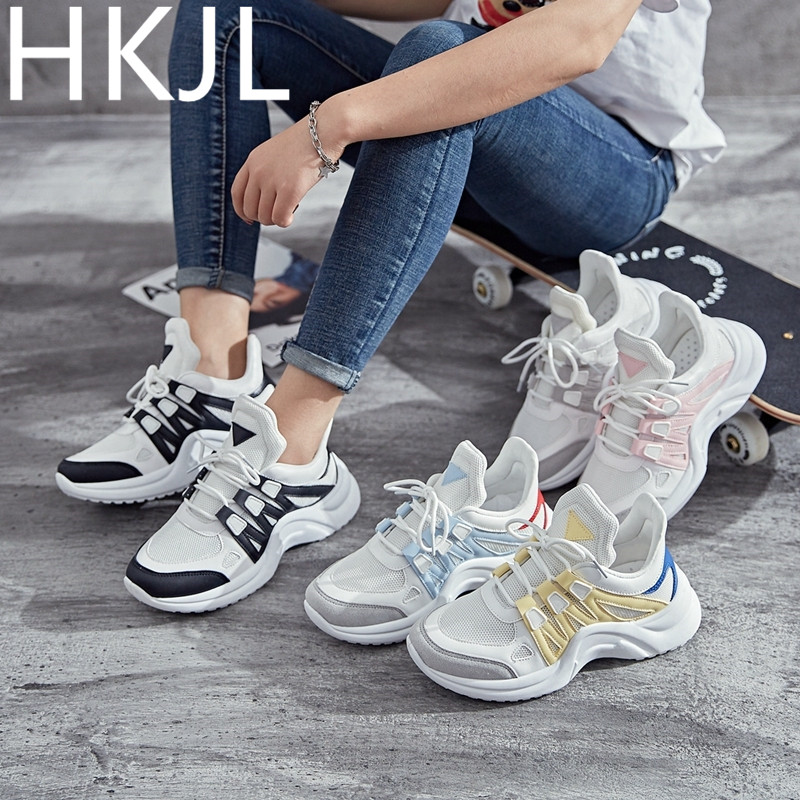 HKJL Casual female spring 2019 new sports shoes and flat large size womens Z021
