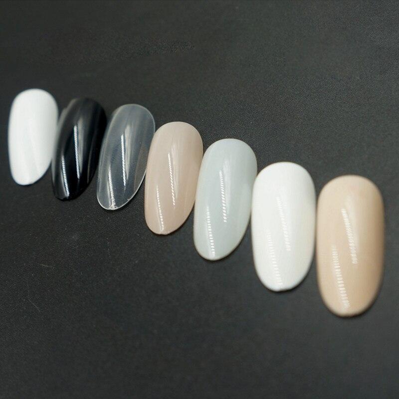Wholesale 50pcs/set Round Colorful French Fake Nail Art Tips ...