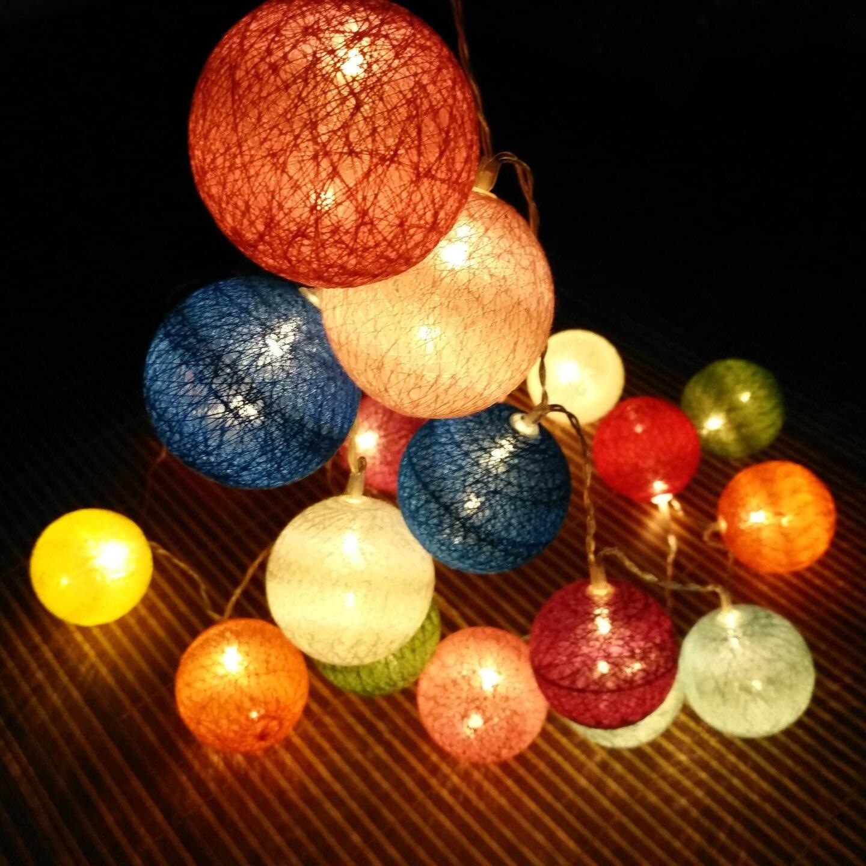 1 6 3m Colorful 6cm Thailand Cotton Balls Led Light String For