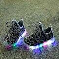Crianças casual shoes moda de nova crianças shoes com led light up shoes luminous glowing tênis para meninos/meninas do bebê sports shoes