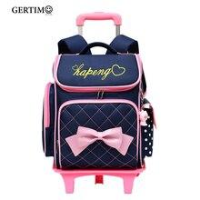 Removable Children School Bags With 2/6 Wheels For Girls Trolley Backpack Kids Wheeled Bag Kids Bookbag Travel Luggage Mochilas все цены