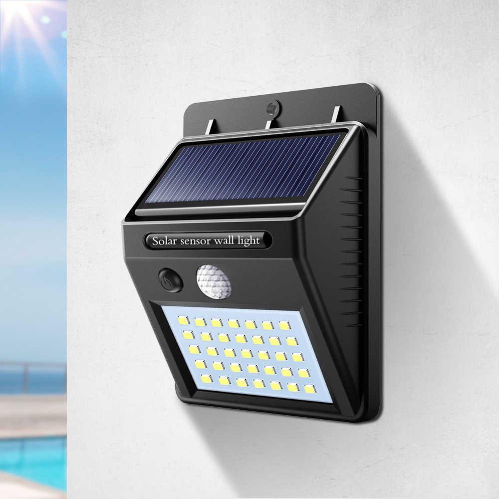 Czujnik ruchu słonecznego światła 8/16/20/30/35 diod led Night detektor ściany lampy na zewnątrz ogród ścieżka awaryjne bezpieczeństwa lampa światła słonecznego