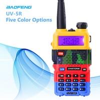 "uv 5r שתי דרך רדיו כף יד ציד VHF & UHF 5W המקצועיים Band Dual מכשיר קשר UV-5R Baofeng המקורי מקמ""ש HF (1)"