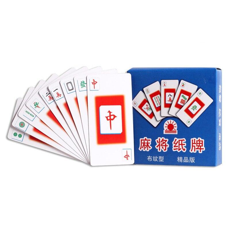 Путешествия открытый развлечения реквизит маджонг КАРТЫ Популярные Семья вечерние настольная игра карты китайский Стиль